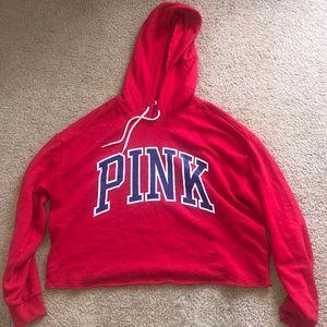 Vs Pink cropped hoodie